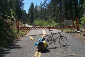 Closed Gate at McKenzie Pass