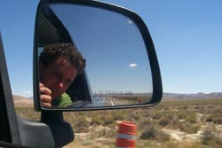 The road through Nevada. A self portrait By Nik
