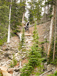 Nik on Voodoo at Keystone Bike Park
