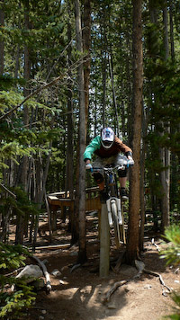 Kris on Wild Thing at Keystone Bike Park