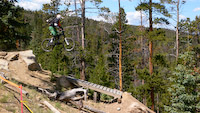 Rob on Jam Rock at Keystone Bike Park