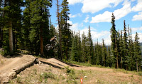 Nik on Jam Rock at Keystone Bike Park